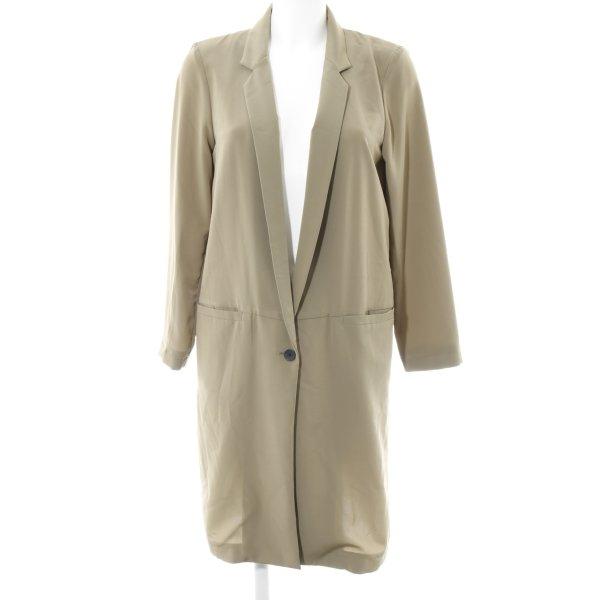 H&M Long-Blazer grüngrau Business-Look