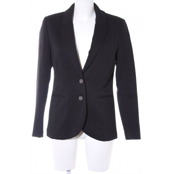 H&M Long-Blazer schwarz Business-Look