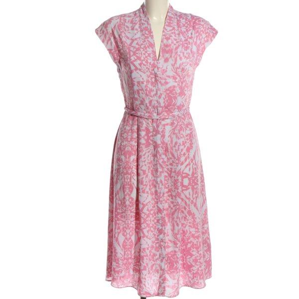 H&M Midikleid pink-weiß Allover-Druck Casual-Look