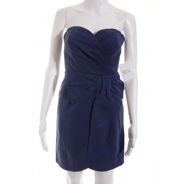 H&M Minikleid blau Wickel-Look