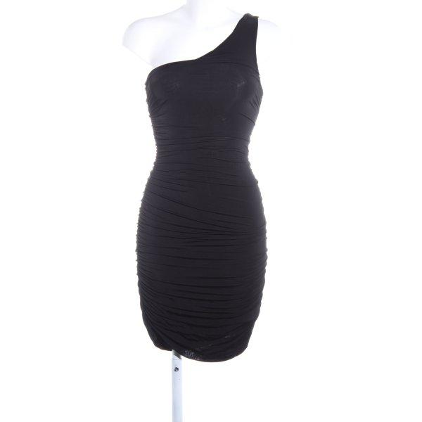 H&M One-Shoulder-Kleid schwarz Elegant