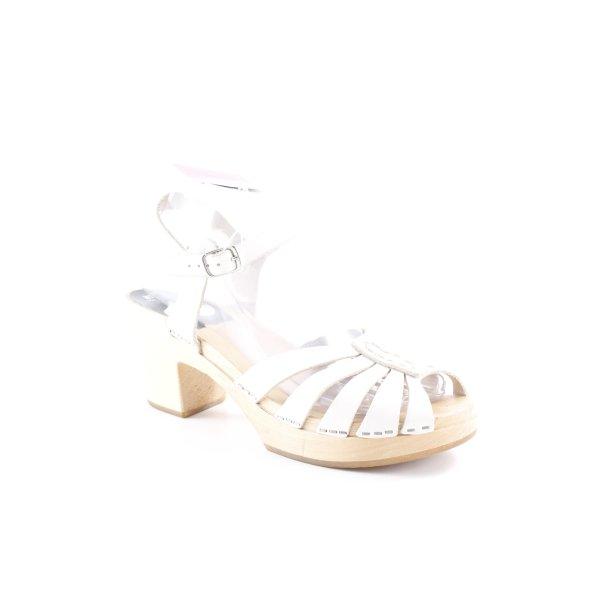 H&M Plateau-Sandalen wollweiß 70ies-Stil