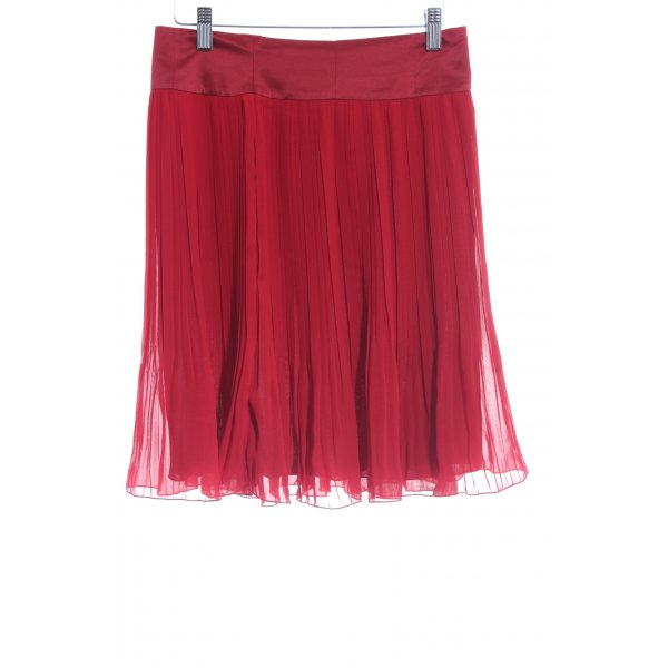 H&M Pleated Skirt brick red-red casual look