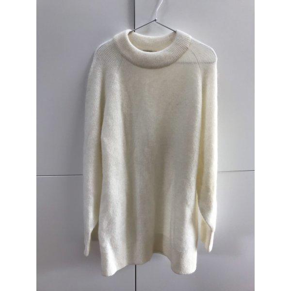 H&M Premium Quality Langer Pullover Oversize aus Wollmix Mohair Wolle Gr. 34 / XS - NEU!
