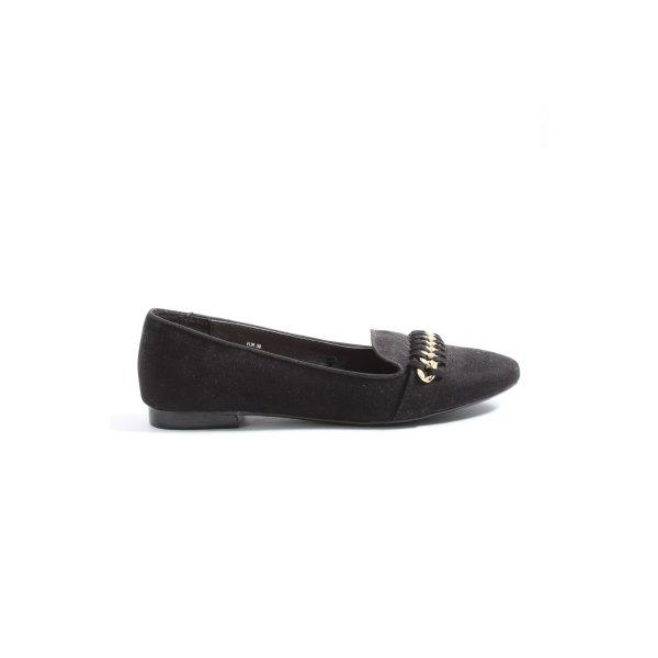 H&M Schlüpfschuhe schwarz Elegant