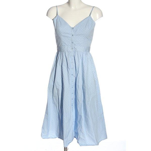 H&M Sommerkleid blau-schwarz Punktemuster Casual-Look