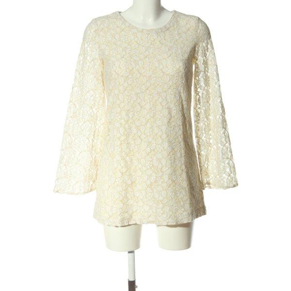H&M Spitzenkleid creme-weiß Elegant