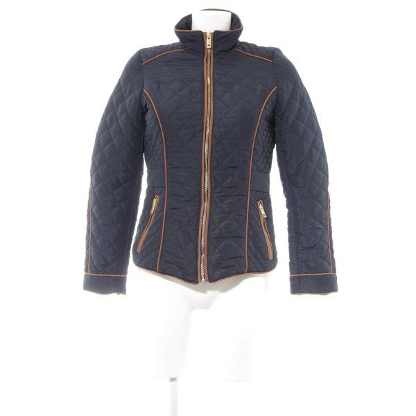 H&M Steppjacke dunkelblau-braun Steppmuster sportlicher Stil