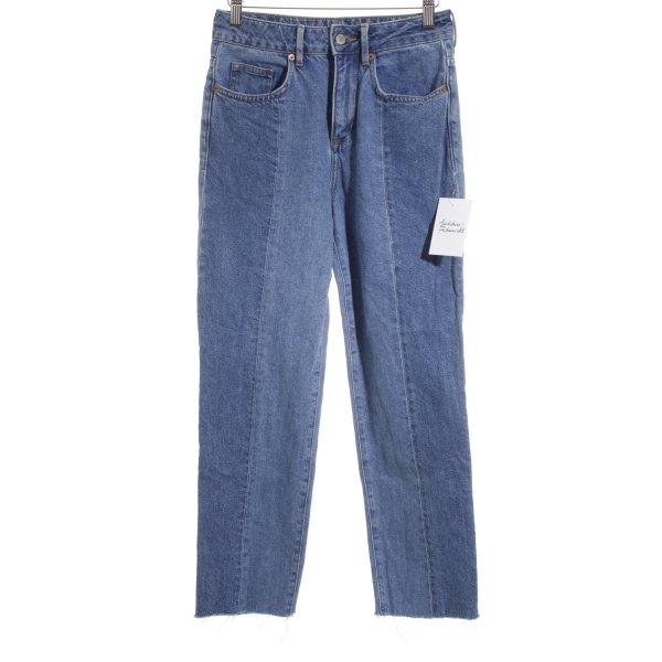 H&M Stretch Jeans graublau Street-Fashion-Look