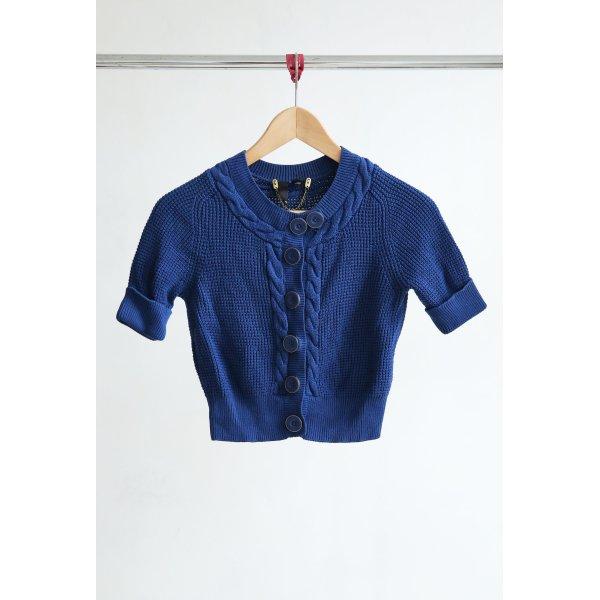 H&M Bolero lavorato a maglia blu-oro Cotone