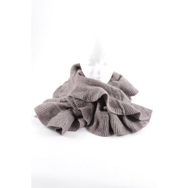 H&M Strickschal braun Casual-Look