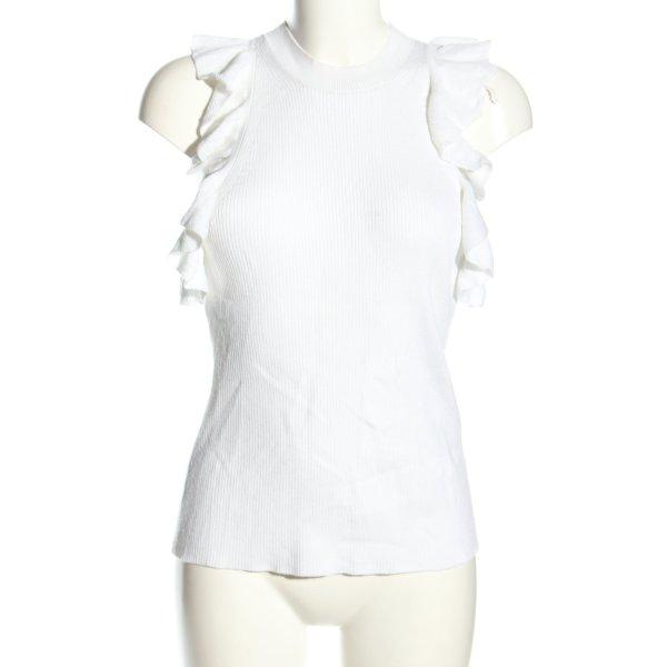 H&M Stricktop weiß Casual-Look