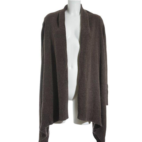 H&M Gebreid vest grijs-bruin country stijl