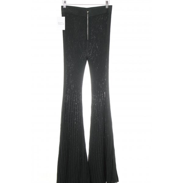 H&M Studio Schlaghose dunkelgrün extravaganter Stil