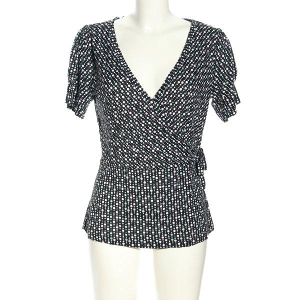 H&M T-Shirt schwarz-weiß Allover-Druck Casual-Look
