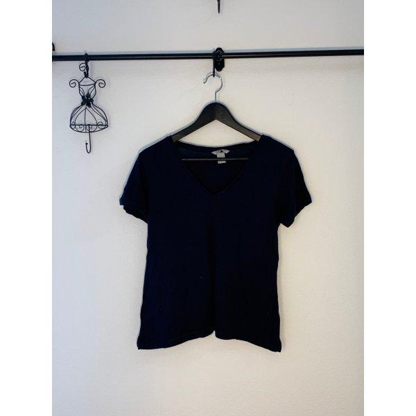 H&M Tshirt navy blau
