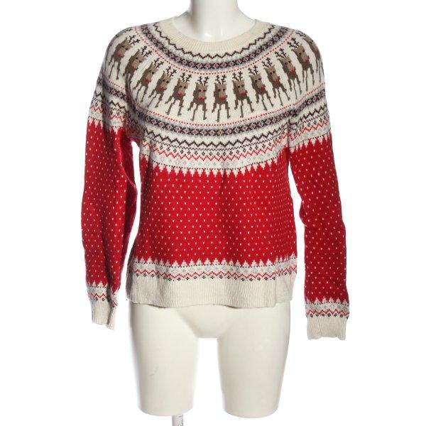 H&M Weihnachtspullover Allover-Druck Casual-Look