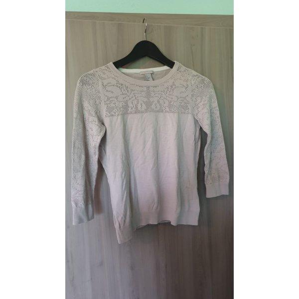 H&M Gehaakt shirt beige-licht beige