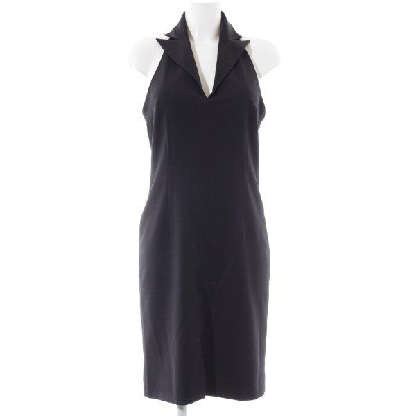 Hallhuber Donna Abendkleid schwarz Allover-Druck Elegant