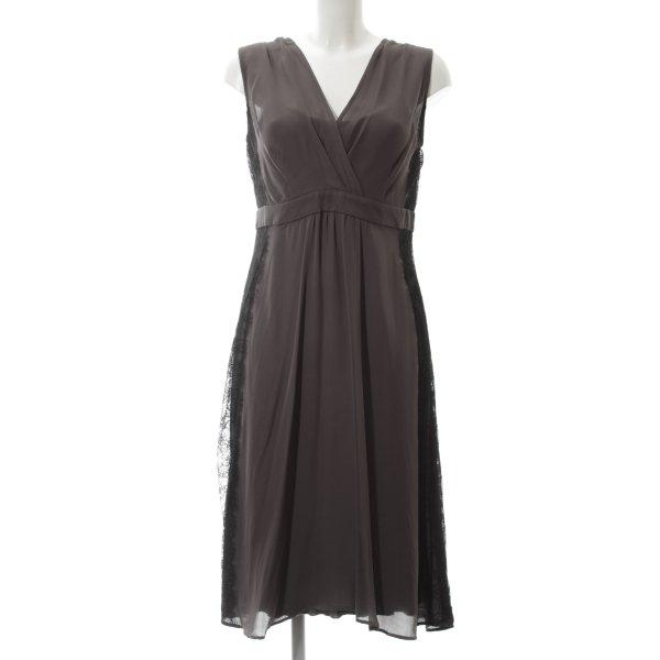 Hallhuber Donna Spitzenkleid braun-schwarz Elegant