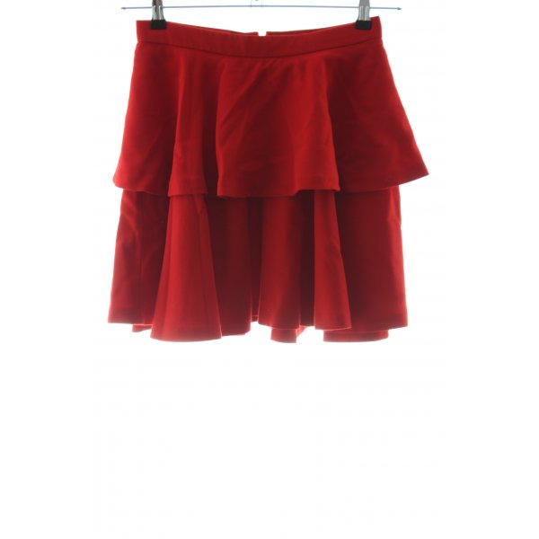 Hallhuber Donna Stufenrock rot Casual-Look