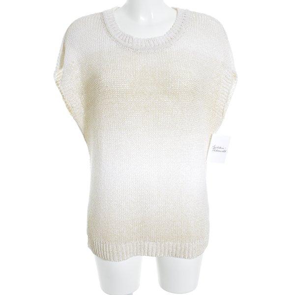 Hallhuber Feinstrickpullunder creme-beige Farbverlauf Casual-Look