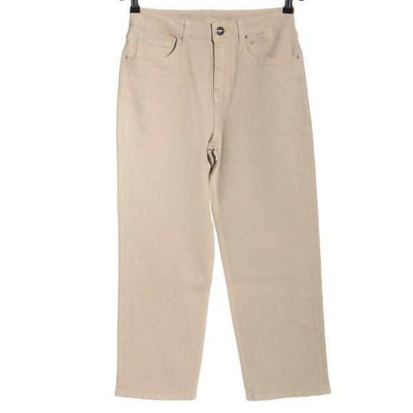 Hallhuber High Waist Jeans creme Casual-Look