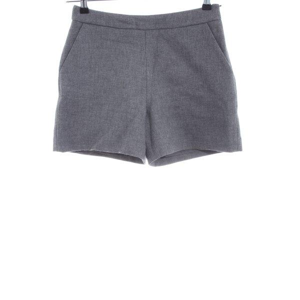 Hallhuber High-Waist-Shorts hellgrau Casual-Look