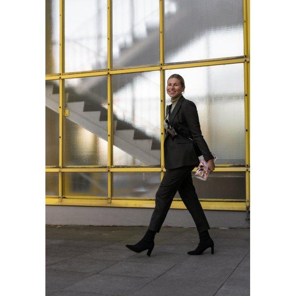 Hallhuber Hosenanzug khaki Business-Look
