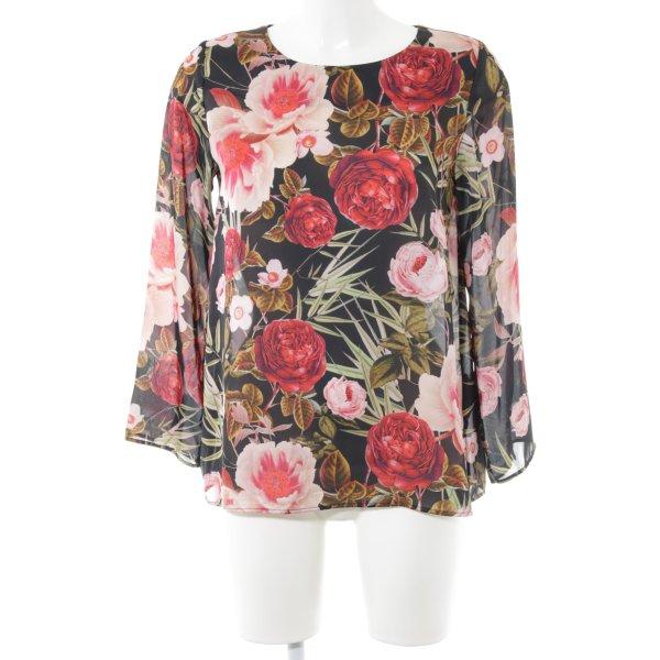Hallhuber Langarm-Bluse Blumenmuster Casual-Look