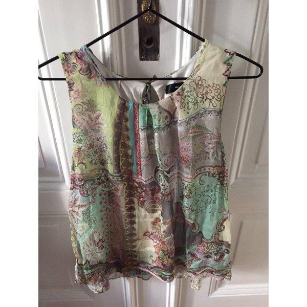 Hallhuber-Seiden Top mit Paisley-Muster in pastelligen Sommerfarben, Romantik-Look