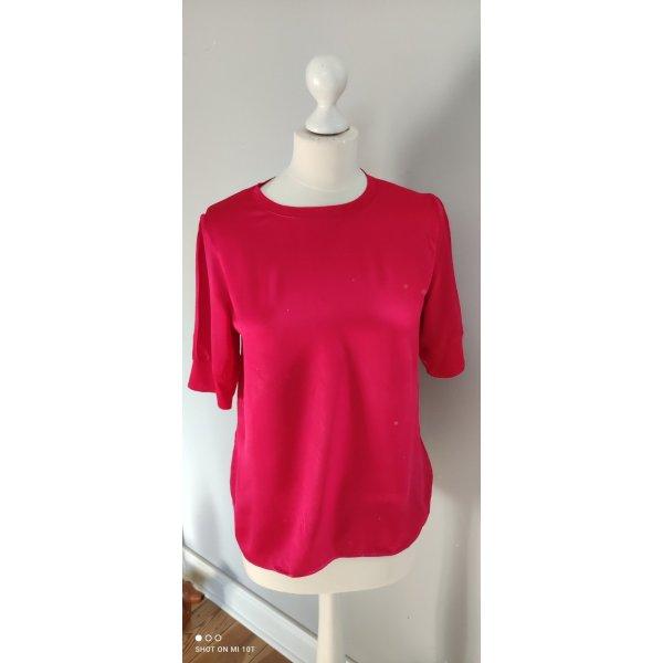 Hallhuber T-shirt czerwony Jedwab