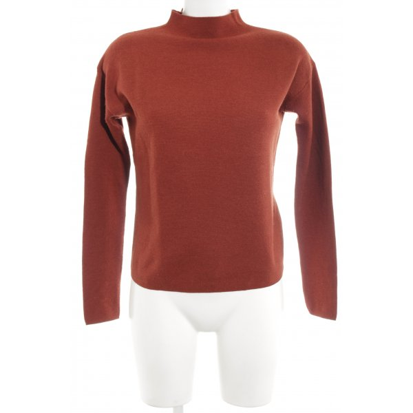 Hallhuber Wollpullover rostrot Casual-Look