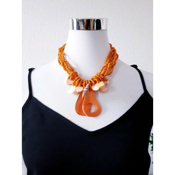 Halskette Perlmutt Muschel