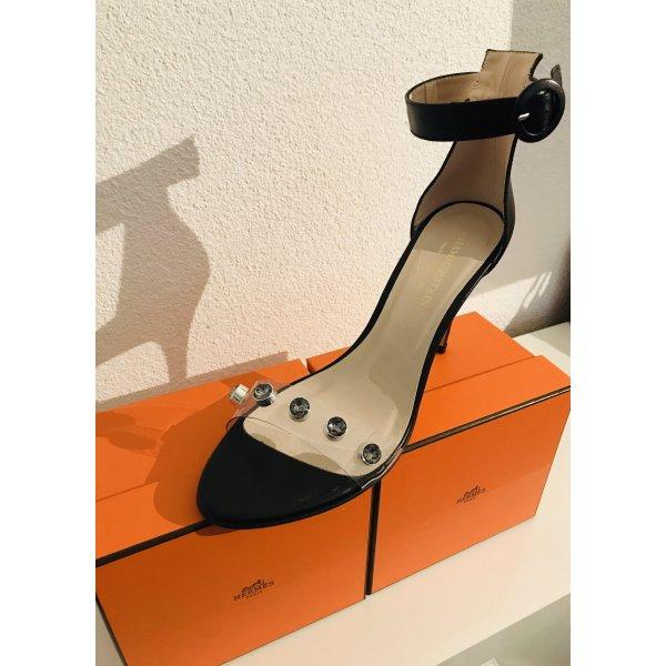 Hammerstein Hoge hakken sandalen zwart-zilver Leer