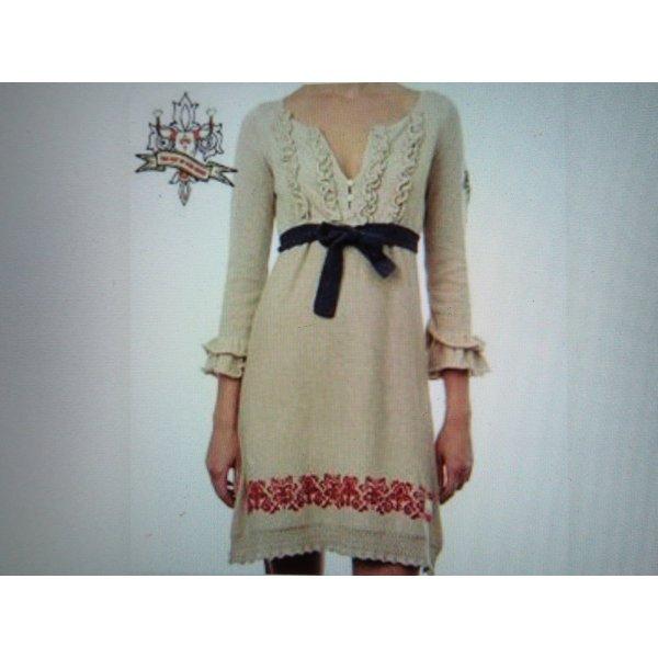 handbesticktes Odd Molly Strickkleid Frill Dress 423 Beige extravagant Boho-Look Gr. 3