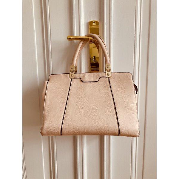 Handtasche Leder rosé