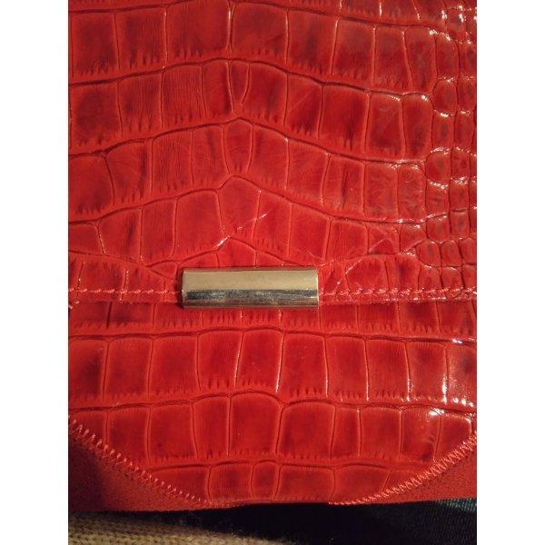 Handtasche Rot Echtleder