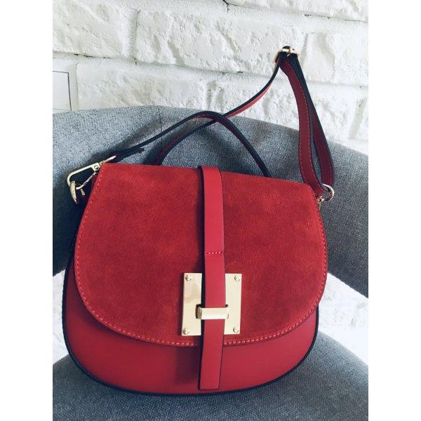 Handtasche Tasche Leder Umhängetasche neu rot