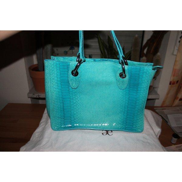 Handtasche von Elegance aus türkisem Leder;  neu!