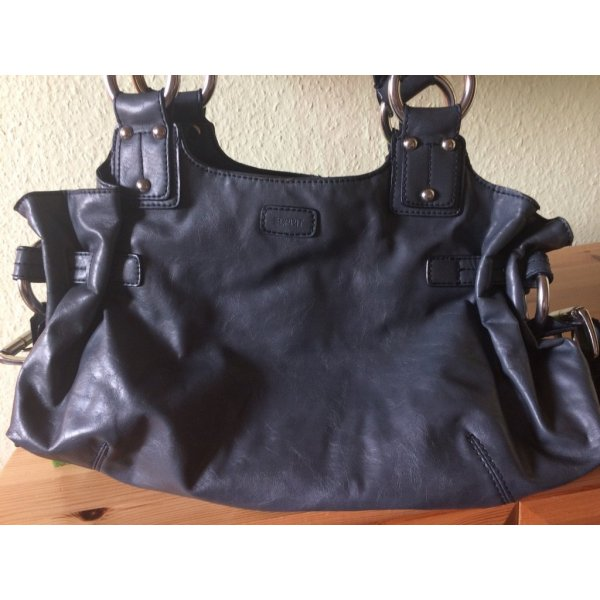 Esprit Carry Bag slate-gray imitation leather