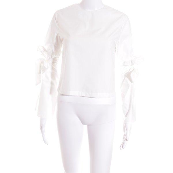 Haoduoyi Langarm-Bluse weiß Street-Fashion-Look