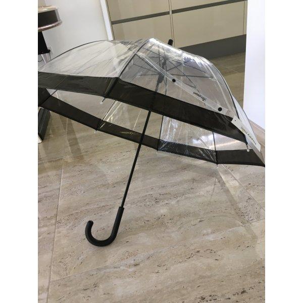 Essentials Parapluie long blanc-noir