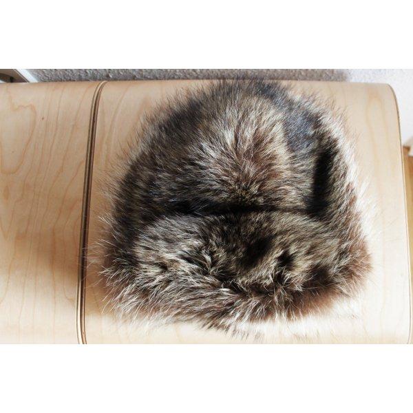 Mühlbauer Cappello in pelliccia nero-marrone chiaro Pelliccia