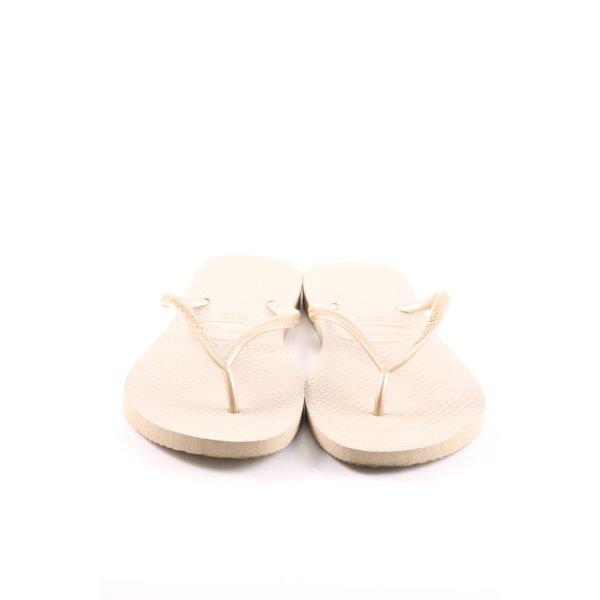 Havaianas Flip Flop Sandalen creme Casual-Look