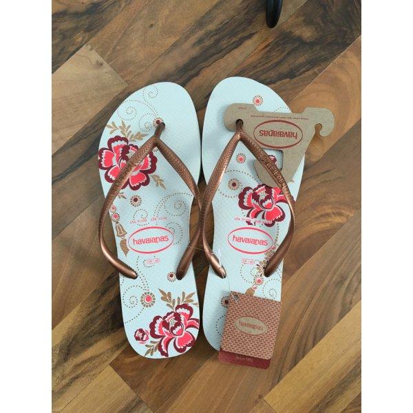 Havaianas Pink / weiß / Gold