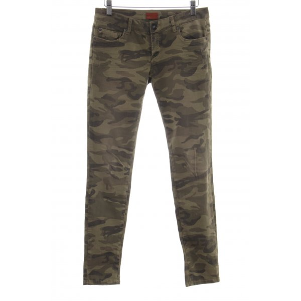 heartless jeans Skinny Jeans khaki-bronzefarben Camouflagemuster Casual-Look