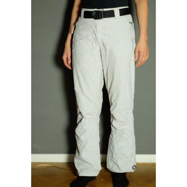 Pantalon thermique blanc-argenté