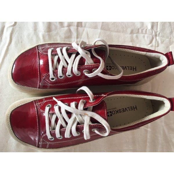 HELVESKO Bequem Schuhe aus der Schweiz Gr.39 - dunkelrot