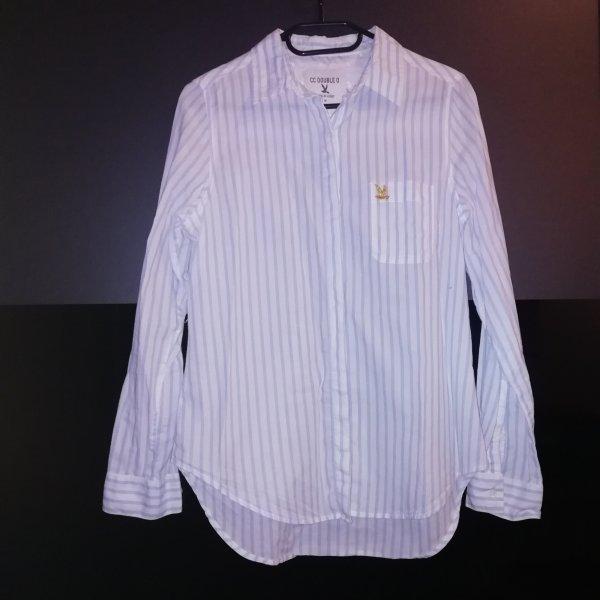 Hemd-Bluse in Streifenoptik